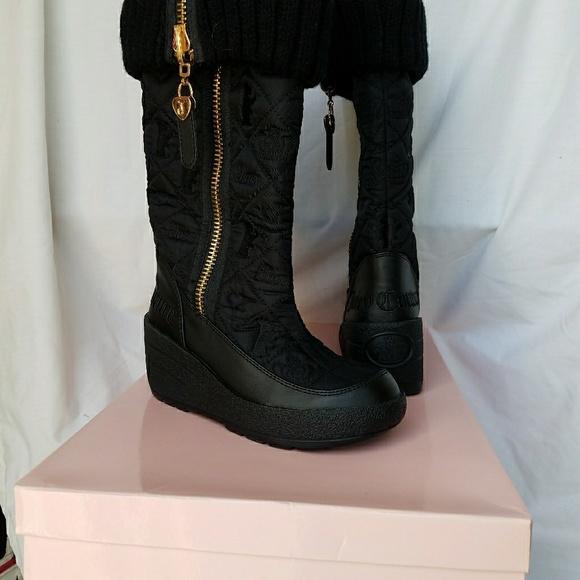 2e31c8c6c17 NIB Juicy Couture Black Full Zip Snow Boots Size 5
